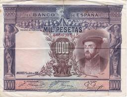 BILLETE DE ESPAÑA DE 1000 PTAS DEL AÑO 1925 DE CARLOS I  (BANKNOTE) - 1000 Pesetas