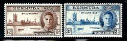 "Bermuda         ""Peace""      Set     SC# 131-32  MNH** - Bermudes"