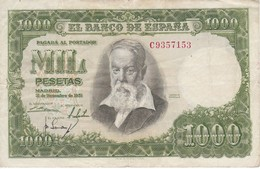 BILLETE DE ESPAÑA DE 1000 PTAS DEL 31/12/1951 SERIE C CALIDAD MBC (VF) (BANKNOTE) - 1000 Pesetas