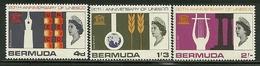 "Bermuda    ""UNESCO""      Set    SC# 207-09   Mint - Bermudes"