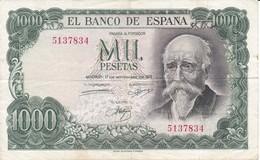 BILLETE DE ESPAÑA DE 1000 PTAS DEL AÑO 1971 JOSE ECHEGARAY SIN SERIE  CALIDAD BC  (BANKNOTE) - 1000 Pesetas