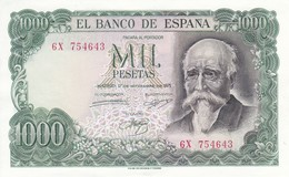BILLETE DE ESPAÑA DE 1000 PTAS DEL AÑO 1971 JOSE ECHEGARAY SERIE 6X  (BANKNOTE) SIN CIRCULAR-UNCIRCULATED - 1000 Pesetas