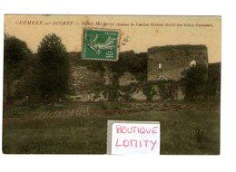 56 Guémené Sur Scorff Ruines De L' Ancien Chateau Féodal Des Rohan Guémené Cachet 1923 - Guemene Sur Scorff