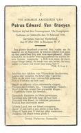 Doodsprentje Gesneuvelde Soldaat 8e Linieregiment Oostmalle + Emelgem 27 Mei 1940 - Images Religieuses