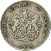 Monnaie, Nigéria, Elizabeth II, 10 Kobo, 1973, TTB, Copper-nickel, KM:10.1 - Nigeria