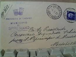 50 C REGNO PIEGO COMUNALE SPRESIANO X MONTEBELLUNA  04/07/1932 GU2768 - 1900-44 Victor Emmanuel III.
