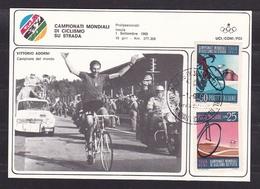1968 Italia Repubblica CAMPIONATI MONDIALI CICLISMO IMOLA Cartolina N.1798 Adorni Campione Del Mondo CONI Affr. Ciclismo - Ciclismo