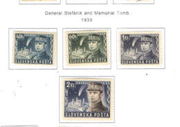 Slovacchia PO 1939 Gen.Stefanik E Memorial .Scott.34/37+ See Scan On Scott.Page - Slovacchia