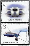 MK 2012-622A AIR PLANE, MACEDONIA, 1 X 2v, MNH - Flugzeuge