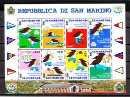 San Marino   -   2001. Giochi Piccoli Stati. Swimming, Shooting, Cycling, Tennis, Basket MNH - Waffenschiessen