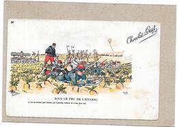 ILLUSTRATEUR  GUILLAUME - CPA DOS SIMPLE - Chromo Chocolat LOUIT Bordeaux - Sous Le Feu De L'ennemi - RARE  - BORD** - Guillaume