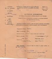 Réquisition Véhicule Citroën AC4F / Exemption Pour  Robert Distillateur Fougerolles 70 / 1934 - Véhicules