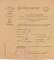 Réquisition Véhicule Mathis MY / Exemption Pour  Robert Tonnellerie Fougerolles 70 / 1934 - Véhicules