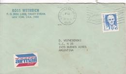 SOBRE ENVELOPE VIA AIR 1989 LONG ISLAND USA- BLEUP - United States