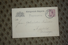Ganzsache P 30 / 01  Gelaufen -  Siehe Beschreibung ( 610 ) - Bayern (Baviera)