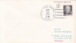 SOBRE ENVELOPE 1972 SAINT PAUL ISLAND USA- BLEUP - United States