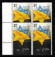 ISRAEL, 2003, Mint Never Hinged Stamp(s) In Blocks, Holocaust, M1724,  Scan X853, With Tab(s) - Israel