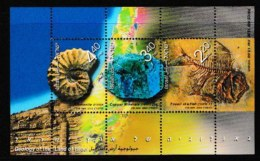 ISRAEL, 2002, Mint Never Hinged Stamp(s) In Miniature Sheet, Geology, Mbl066, Scan X845, - Israel