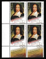 ISRAEL, 2002, Mint Never Hinged Stamp(s) In Blocks, Spinoza, M1701,  Scan X848, With Tab(s) - Israel