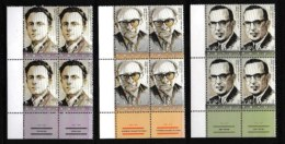 ISRAEL, 2004, Mint Never Hinged Stamp(s) In Blocks, Historians,  Scan X864b, With Tab(s) - Israel