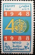 Egypt 1988 WHO,40th.Anniv. - Egypt
