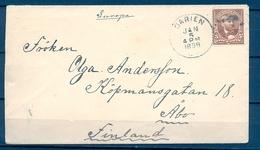 1898 , ESTADOS UNIDOS ,DARIEN - ABO ( TURKU ) EN FINLANDIA , SOBRE CIRCULADO , TRANSITO NUEVA YORK , LLEGADA - 1847-99 Emisiones Generales