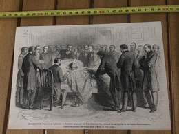 1865 GRAVURE ASSASSINAT DU PRESIDENT LINCOLN HARPER'S WEEKLY ET FRANK LESLIE - Old Paper