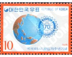 Ref. 288777 * MNH * - SOUTH KOREA. 1975. 70th ANNIVERSARY OF THE ROTARY INTERNATIONAL . 70 ANIVERSARIO DEL ROTARY INTERN - Rotary, Lions Club
