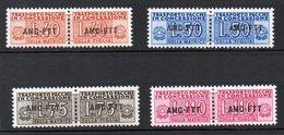 1953 Trieste A - Pacchi In Concessione N 1 - 4 Serie Completa Nuova MLH* - Paketmarken/Konzessionen