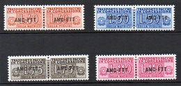1953 Trieste A - Pacchi In Concessione N 1 - 4 Serie Completa Nuova MLH* - Trieste