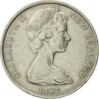 Monnaie, Nouvelle-Zélande, Elizabeth II, 10 Cents, 1967, TTB, Copper-nickel - Nouvelle-Zélande