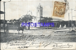 96671 PARAGUAY CHURCH IGLESIA SAN ROQUE CIRCULATED TO ARGENTINA POSTAL POSTCARD - Paraguay