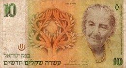 ISRAEL 10 NEW SHEQALIM 1992 P-53 - Israele