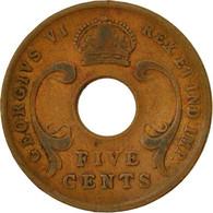 Monnaie, EAST AFRICA, George VI, 5 Cents, 1942, TB, Bronze, KM:25.2 - Colonie Britannique