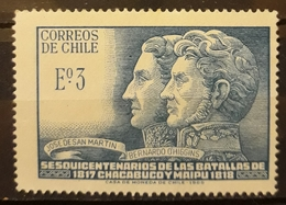 CHILE 1968 The 150th Anniversary Of Battles Of Chacabuco And Maipu. USADO - USED. - Chile