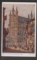 Painting Of City Hall From 1833 In Louvain, Belgium - Unused - Belgium