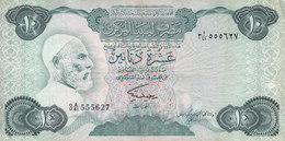 LIBYA 10 DINARS 1984 P-51 SIG/2 MISLLATI PREFIX 41 VF  */* - Libya