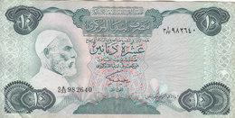 LIBYA 10 DINARS 1984 P-51 SIG/2 MISLLATI PREFIX 33 VF  */* - Libië