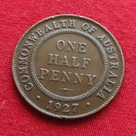 Australia 1/2 Half Penny 1927  Australie - Australia