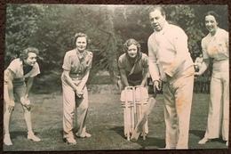 J. B. Priestley, 1938.  The Nostalgia Postcard Collectors Club. Yesterday's Britain 1890s - 1950s - Cricket