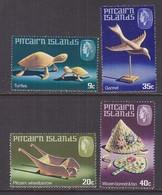 PITCAIRN  ISLANDS  194-7     **   HANDICRAFT  TURTLE,  BIRD,  BONNET,  FAN - Timbres