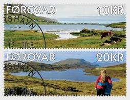 H01 Faroe Islands 2018 Sandsvatn Toftavatn USED MNH Postfrisch - Féroé (Iles)