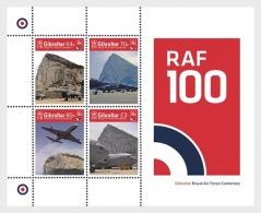 H01 Gibraltar 2018 RAF Centenary Airplanes MNH Postfrisch - Gibraltar