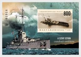 H01 Hungary 2018 Battleship Saint Stephen MNH Postfrisch - Hongrie