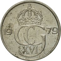 Monnaie, Suède, Carl XVI Gustaf, 25 Öre, 1979, TTB, Copper-nickel, KM:851 - Suède
