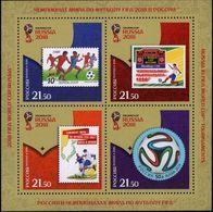 Russia, 2016, Mi. 2335-38 (bl. 231), Sc. 7751, The 2018 FIFA World Cup Russia, Football, MNH - 1992-.... Federazione