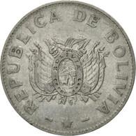 Monnaie, Bolivie, 50 Centavos, 1991, TTB, Stainless Steel, KM:204 - Bolivia