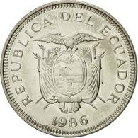 Monnaie, Équateur, Sucre, Un, 1986, TTB+, Nickel Clad Steel, KM:85.2 - Equateur