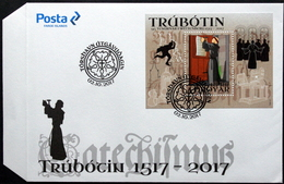Faroe Islands  2017   500th Protestant Reformation    MiNr. 904 Block 45  FDC    ( Lot 6421) - Féroé (Iles)