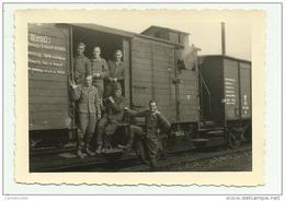 FOTO SOLDATI TEDESCHI SU TRENO 2a GUERRA MONDIALE - MISURE CM.10X7 - Krieg, Militär